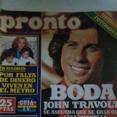 Coleccionismo de Revista Pronto: REVISTA PRONTO 340 1978 BODA JOHN TRAVOLTA, MARIÁN FLORES UN DOS TRES, GRACE JONES, ROCÍO JURADO. Lote 182045648