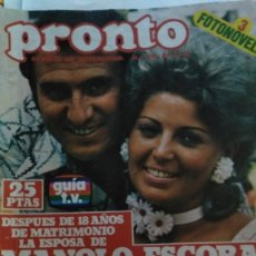 Coleccionismo de Revista Pronto: REVISTA PRONTO 311 PORTADA MANOLO ESCOBAR, AGATA LYS, ELSA BAEZA, POSTER JOHN TRAVOLTA 1978. Lote 182046342