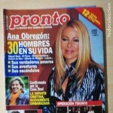 Coleccionismo de Revista Pronto: ANA OBREGON - ISABEL PANTOJA. Lote 182321726