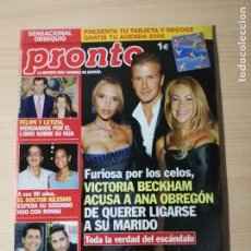 Coleccionismo de Revista Pronto: ANA OBREGON - CAROLINA DE MONACO - ESTEFANIA. Lote 182321892