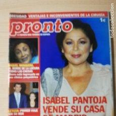 Coleccionismo de Revista Pronto: ISABEL PANTOJA - CAROLINA DE MONACO. Lote 182321981