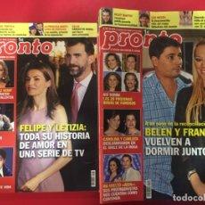 Coleccionismo de Revista Pronto: LOTE 26 REVISTAS PRONTO - AÑO 1999 & 2000 - OCASION. Lote 183055535