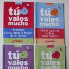 Coleccionismo de Revista Pronto: 4 FASCICULOS TU VALES MUCHO . Lote 183091756