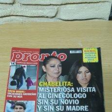 Coleccionismo de Revista Pronto: REVISTA PRONTI NÚMERO 2175 - FECHA 11/01/2014. Lote 184169392