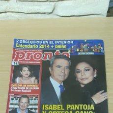 Coleccionismo de Revista Pronto: REVISTA PRONTO NÚMERO 2173 - FECHA 28/12/2013. Lote 184215783