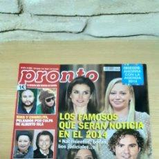 Coleccionismo de Revista Pronto: REVISTA PRONTO NÚMERO 2174 - FECHA 4 / 1 / 2014. Lote 184248891