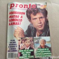 Coleccionismo de Revista Pronto: PRONTO 2/86 LORENZO LAMAS PAUL NEWMAN AREVALO LOLA FLORES CARMINA ORDOÑEZ SILVIA TORTOSA MIREILLE. Lote 184754941