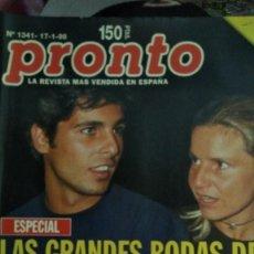 Coleccionismo de Revista Pronto: REVISTA PRONTO 1341 PELÍCULA TITANIC, ELPUMA 1998. Lote 185726477