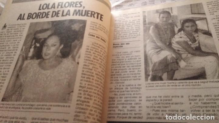 Coleccionismo de Revista Pronto: REVISTA PRONTO 694 LOLA FLORES, PUTURRÚ DE FUA, PEPE DA ROSA PIERDE 40 KILOS, AÑO1985 - Foto 3 - 189307467