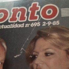 Coleccionismo de Revista Pronto: REVISTA PRONTO 695 CHICHO, EL CORDOBÉS, LOS GOONIES AÑO 1985. Lote 189307478