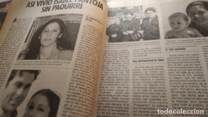 Coleccionismo de Revista Pronto: REVISTA PRONTO 699 ISABEL PANTOJA, PAQUIRRI, KIKO LEDGARD, ANA OBREGÓN EN EL EQUIPO A AÑO 1985 - Foto 6 - 189307520