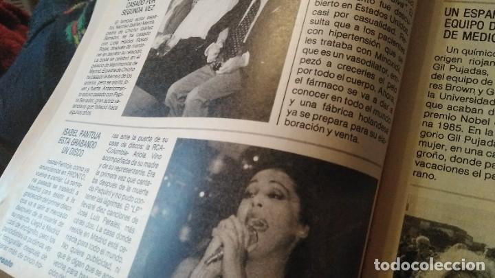 Coleccionismo de Revista Pronto: REVISTA PRONTO 703 SUSANA ESTRADA, ISABEL PANTOJA, MIGUEL BOSÉ, MUERTE ROCK HUDSON AÑO 1985 - Foto 6 - 189307526