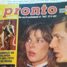 Coleccionismo de Revista Pronto: REVISTA PRONTO JON ERIC HEXUM CAMUFLAJE COVER UP, JOAQUÍN SABINA AÑO 1987. Lote 189307865