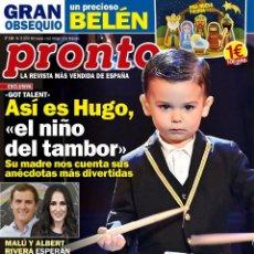 Coleccionismo de Revista Pronto: REVISTA PRONTO 2484. HUGO, EL NIÑO DEL TAMBOR. MINIPOSTER CAN YAMAN. Lote 189410402