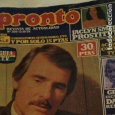 Coleccionismo de Revista Pronto: REVISTA PRONTO 388 ENRIQUE Y ANA, MILA XIMÉNEZ AÑO 1979. Lote 189527362