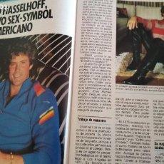 Coleccionismo de Revista Pronto: REVISTA PRONTO 693 AÑO 1985 DAVID HASSELHOFF EL COCHE FANTÁSTICO, 5 PAG EL PLATANITO. Lote 189630243
