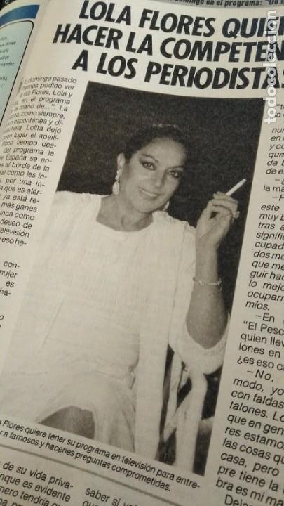 Coleccionismo de Revista Pronto: REVISTA PRONTO 696 EL NANI, LOLA FLORES, SMILJA MIHAILOVICH, RIVERITA AÑO 1985 - Foto 3 - 189630278
