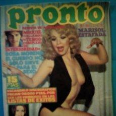 Coleccionismo de Revista Pronto: REVISTA PRONTO DEL AÑO 1976. Lote 191184191