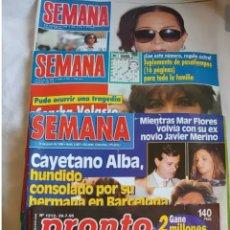 Coleccionismo de Revista Pronto: 4 REVISTAS SEMANA Y PRONTO AÑOS 1992/1995 Y 1999. Lote 191742797