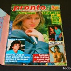 Coleccionismo de Revista Pronto: PRONTO NÚM 999 - 29.06.1991 - SABRINA SALERNO. Lote 192371676