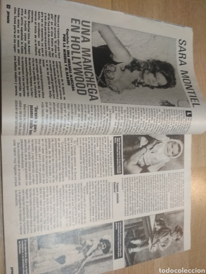 Coleccionismo de Revista Pronto: Revista Pronto 814 Madonna Lydia Bosch Ana Obregón Sara Montiel Don Johnson - Foto 3 - 193450856