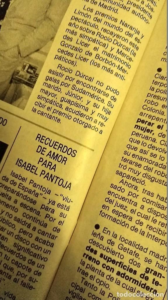 Coleccionismo de Revista Pronto: REVISTA PRONTO 685 MARÍA JIMÉNEZ, NOTICIA ISABEL PANTOJA , MECANO EN JUEGOS EUROPEOS AÑO 1985 - Foto 6 - 189307348