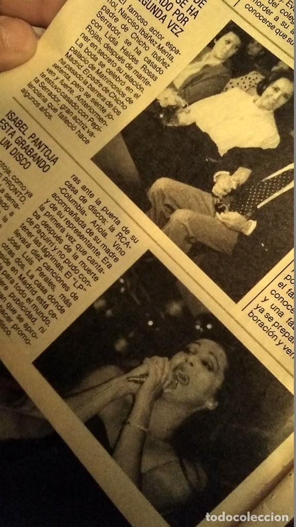 Coleccionismo de Revista Pronto: REVISTA PRONTO 703 SUSANA ESTRADA, ISABEL PANTOJA, MIGUEL BOSÉ, MUERTE ROCK HUDSON AÑO 1985 - Foto 5 - 189307526