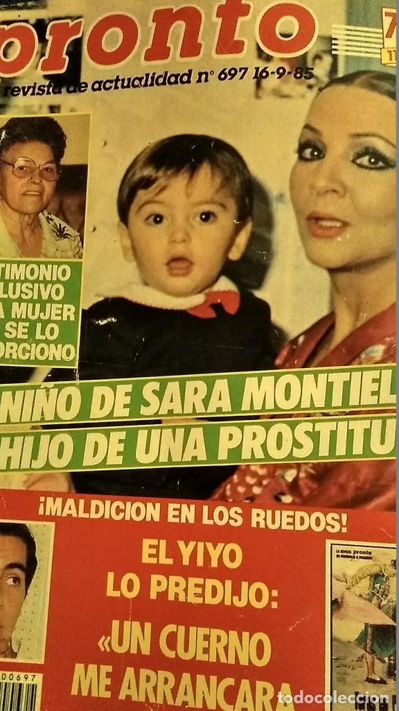 Coleccionismo de Revista Pronto: REVISTA PRONTO 697 AÑO 1985 SARA MONTIEL, IMANOL ARIAS Y PASTORA VEGA, RIVERITA, TITANIC - Foto 2 - 194354607