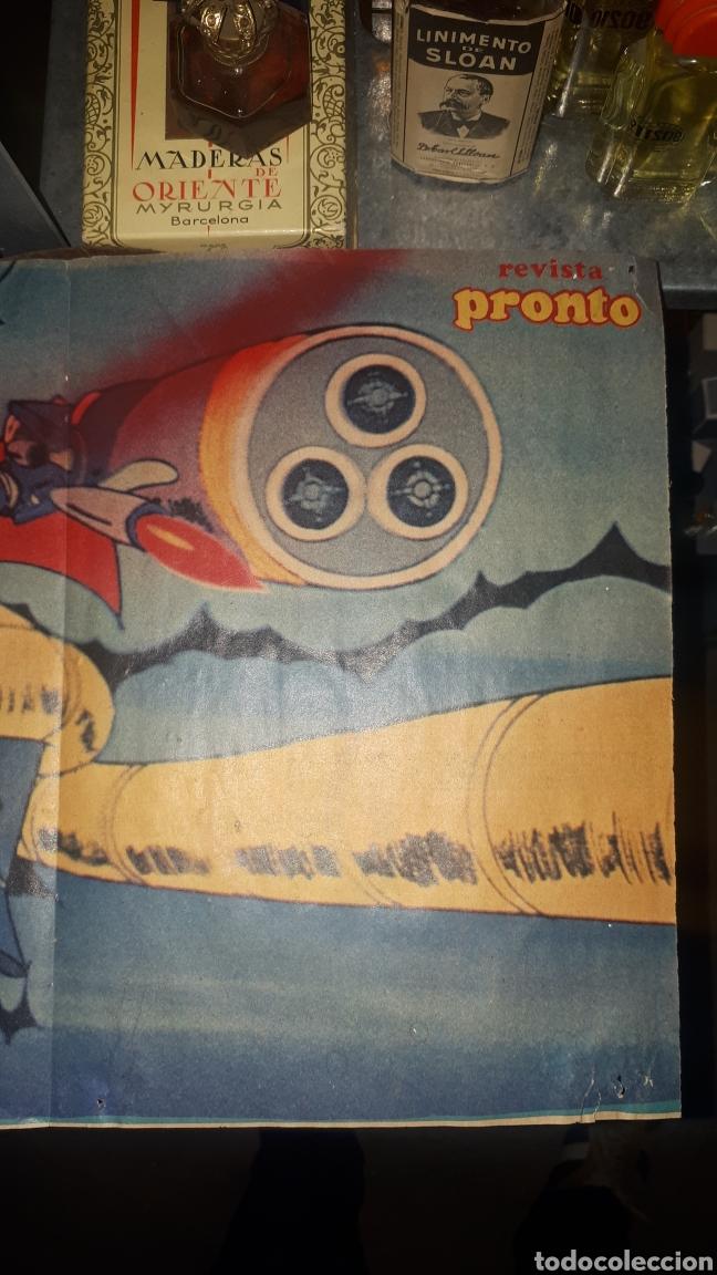 Coleccionismo de Revista Pronto: Antiguo póster MAZINGER Z REVISTA PRONTO POSTER 9 - Foto 2 - 194510950