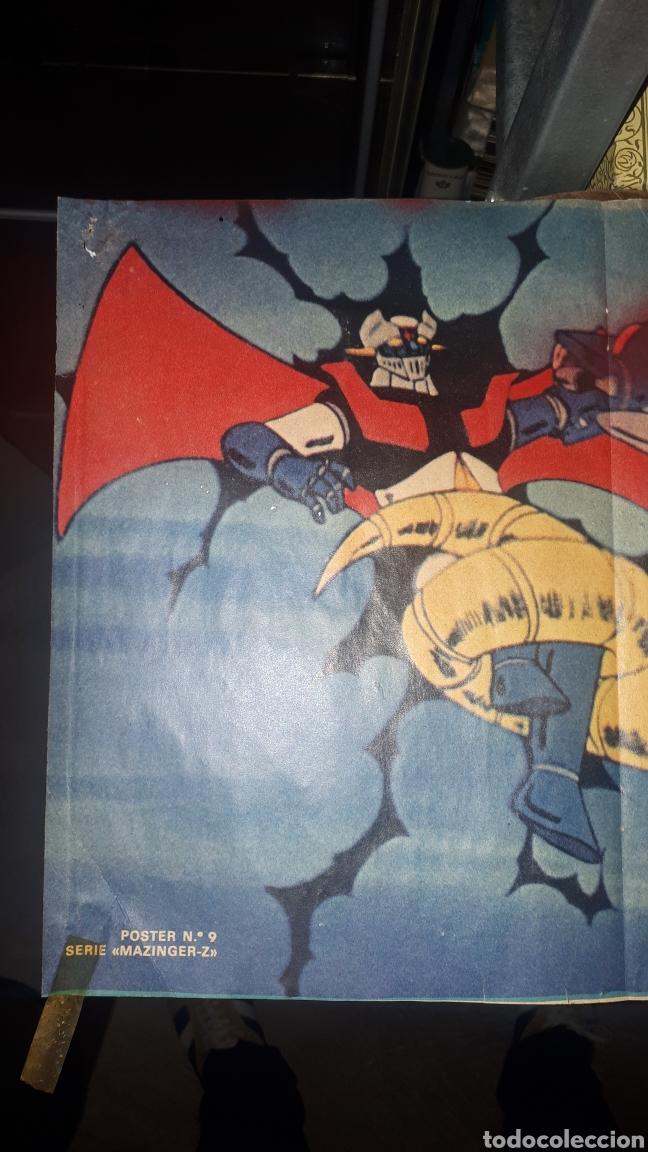 Coleccionismo de Revista Pronto: Antiguo póster MAZINGER Z REVISTA PRONTO POSTER 9 - Foto 3 - 194510950