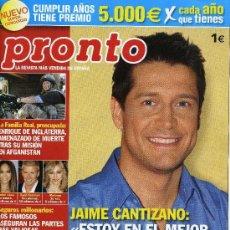 Coleccionismo de Revista Pronto: PRONTO - Nº 1871- MARZO 2008. Lote 194546135