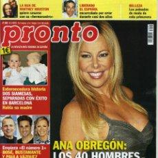 Coleccionismo de Revista Pronto: PRONTO Nº 2082. Lote 194547666