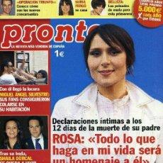 Coleccionismo de Revista Pronto: PRONTO - Nº 1875 - ABRIL 2008. Lote 194547833