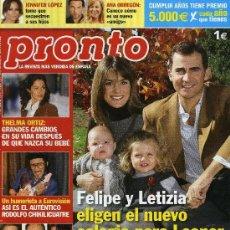 Coleccionismo de Revista Pronto: PRONTO - Nº 1872 - MARZO 2008. Lote 194547843