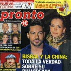 Coleccionismo de Revista Pronto: PRONTO Nº 2233 - 21 FEBRERO 2015. Lote 194547935