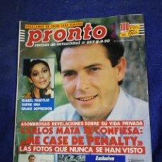 Coleccionismo de Revista Pronto: REVISTA. PRONTO. NUMERO 957. Lote 194661385