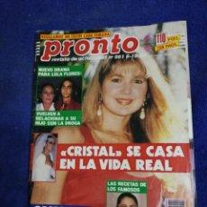 Coleccionismo de Revista Pronto: REVISTA. PRONTO NUMERO 961. Lote 194661495