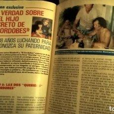Coleccionismo de Revista Pronto: REVISTA PRONTO 849 POSTER ANA OBREGÓN, BERTÍN OSBORNE, JULIO IGLESIAS, EL CORDOBÉS, PERICO DELGADO. Lote 194742806