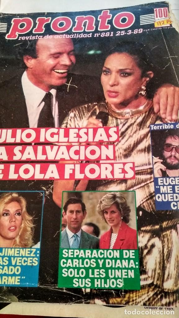 Coleccionismo de Revista Pronto: REVISTA PRONTO 881 LOLA FLORES, JULIO IGLESIAS, PILAR MIRÓ, EUGENIO, GORILAS EN LA NIEBLA - Foto 2 - 194901371