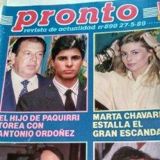 Coleccionismo de Revista Pronto: REVISTA PRONTO 890 EL FARY, PERICO DELGADO, CONCHITA BAUTISTA, STING, MARTA SÁNCHEZ. Lote 194901496