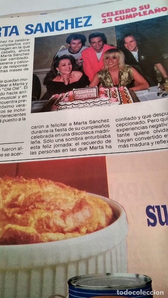 Coleccionismo de Revista Pronto: REVISTA PRONTO 890 EL FARY, PERICO DELGADO, CONCHITA BAUTISTA, STING, MARTA SÁNCHEZ - Foto 6 - 194901496