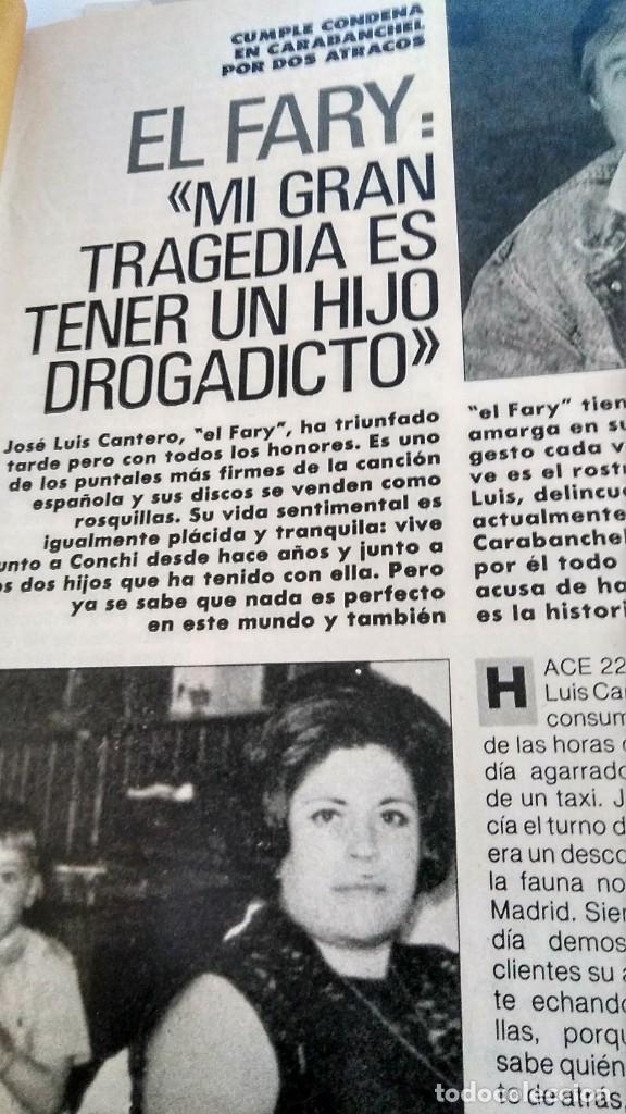 Coleccionismo de Revista Pronto: REVISTA PRONTO 890 EL FARY, PERICO DELGADO, CONCHITA BAUTISTA, STING, MARTA SÁNCHEZ - Foto 7 - 194901496