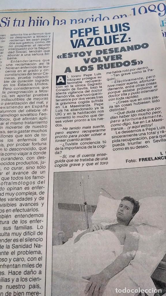 REVISTA PRONTO 893 AÑO 1989 JOE RÍGOLI, MARTA CHÁVARRI, ARTURO FERNÁNDEZ, PEPE LUIS VÁZQUEZ (Papel - Revistas y Periódicos Modernos (a partir de 1.940) - Revista Pronto)