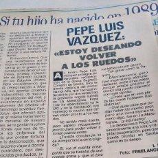 Coleccionismo de Revista Pronto: REVISTA PRONTO 893 AÑO 1989 JOE RÍGOLI, MARTA CHÁVARRI, ARTURO FERNÁNDEZ, PEPE LUIS VÁZQUEZ. Lote 194903221