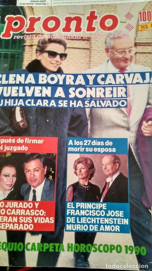 Coleccionismo de Revista Pronto: REVISTA PRONTO 917 AÑO 1989 MARIA JOSÉ CANTUDO, DAVID CARRADINE, MARTA SÁNCHEZ, CRUZ Y RAYA - Foto 2 - 194903592