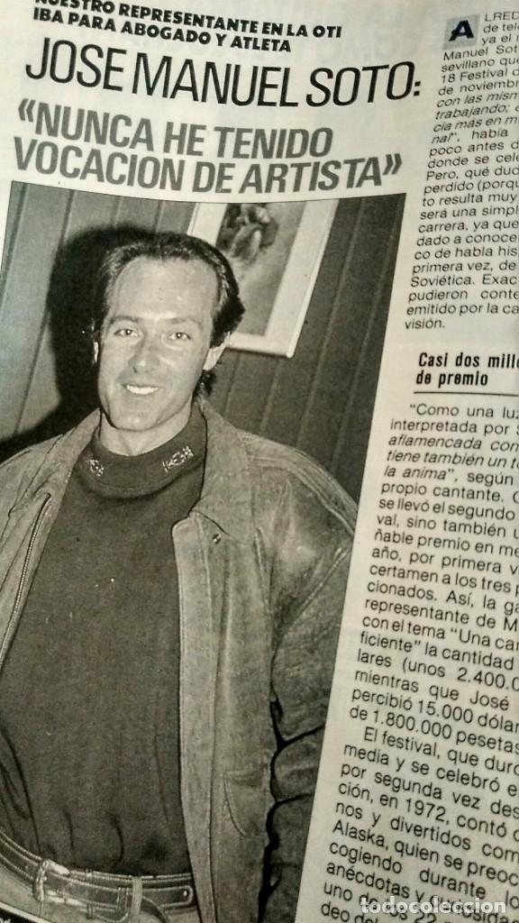 Coleccionismo de Revista Pronto: REVISTA PRONTO 917 AÑO 1989 MARIA JOSÉ CANTUDO, DAVID CARRADINE, MARTA SÁNCHEZ, CRUZ Y RAYA - Foto 8 - 194903592