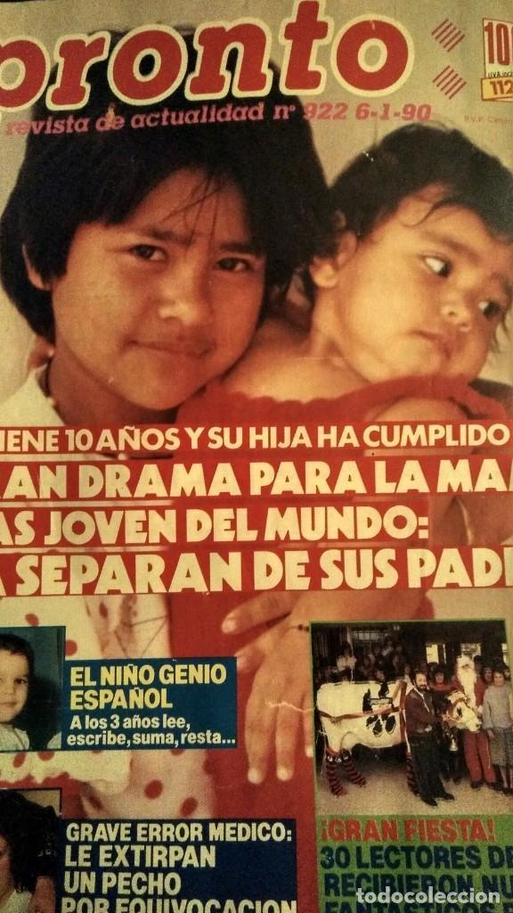 Coleccionismo de Revista Pronto: REVISTA PRONTO 922 AÑO 1990 ARANCHA SÁNCHEZ VICARIO, SONIA MARTÍNEZ, ÓSCAR DE LA RENTA - Foto 3 - 194910438