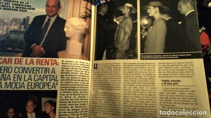 Coleccionismo de Revista Pronto: REVISTA PRONTO 922 AÑO 1990 ARANCHA SÁNCHEZ VICARIO, SONIA MARTÍNEZ, ÓSCAR DE LA RENTA - Foto 4 - 194910438