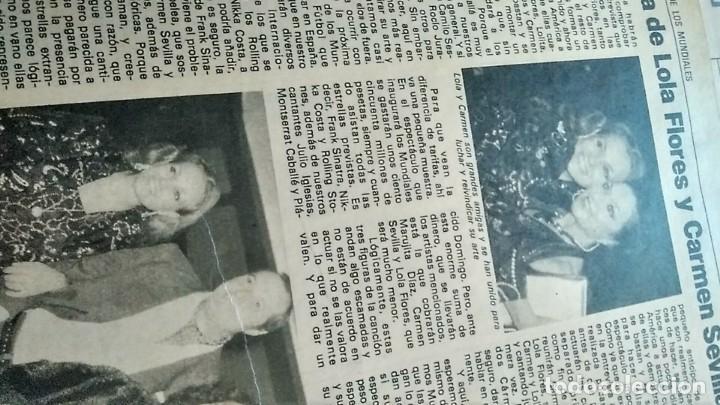 Coleccionismo de Revista Pronto: REVISTA PRONTO 521 AÑO 1982 ANUNCIO SUPER POP MECANO, PAJARES, ROCÍO JURADO, ISABEL PANTOJA - Foto 6 - 195076560