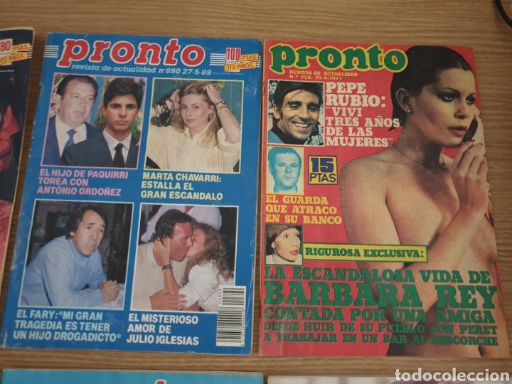 Coleccionismo de Revista Pronto: Lote de 8 Revista Pronto. - Foto 3 - 195099385